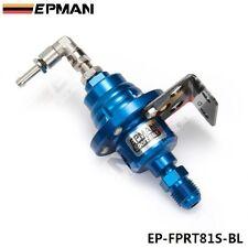EPMAN RACING TURBO BYPASS BLUE ADJUSTABLE FUEL PRESSURE REGULATOR LIQUID GAUGE