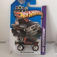 Hot Wheels - 2013 - 1987 Toyota Pickup Truck Black JDM combine ship