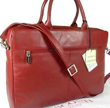 NUOVI Sandali Donna Visconti Rosso Scuro in Pelle Borsa per laptop valigetta GRATIS UK P & P