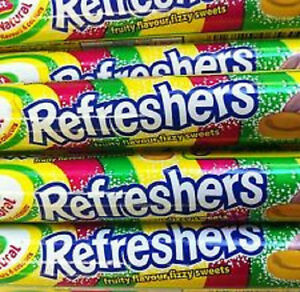 BARRATTS REFRESHERS ROLLS  RETRO SWEETS PARTY BAG FILLER CHOOSE AMOUNT 5 -BOX 48
