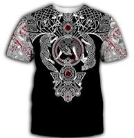 Funny Viking Tattoo 3D print Casual T Shirt Hot New Men Women Short Sleeve Top