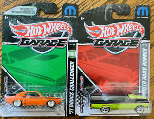 Hot Wheels Garage '70 Roadrunner and '71 Challenger Real Rider Tires MINT 🔥