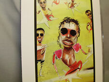 Michael Jackson Famous Entertainer artist illustrated caricature drawing  color