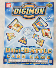 DIGIMON DIGI-BATTLE Card Game Starter Set 1st Edition - Upper Deck