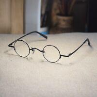 Black Round John Lennon eyeglasses mens high metal rx optical glasses samll lens