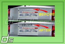 Toyota CELICA 2000-2005 Decals Inserts Inlays Embossed Rear Hatch GTS GT TRD