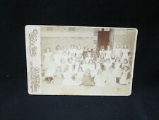 Antique Cabinet Card 165x105mm - Girls School Photo - Webb&Webb - Melbourne AUS