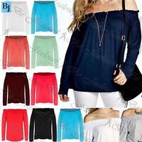 Womens Ladies Ruched Sheering Shirred Off Shoulder Bardot Boobtube T Shirt Top