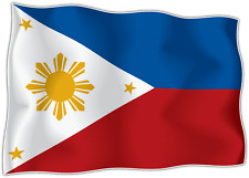 "Philippines Country Flag Car Bumper Window Mirror Sticker Decal 5""X4"""