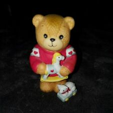 Enesco Lucy and Me Lucy Rigg Bear With toy rocking horse