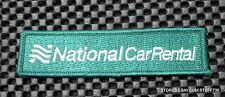 "NATIONAL CAR RENTAL EMBROIDERED SEW ON PATCH ADVERTISING UNIFORM 4 1/4"" x 1"""