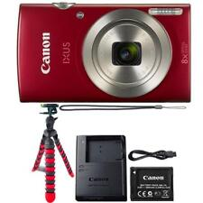 Canon IXUS 185 / ELPH 180 20MP Digital Camera Red and Flexible Tripod