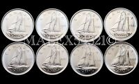 🇨🇦CANADA 1980 TO 1987 SET OF 10 CENTS UNC (8 COINS)