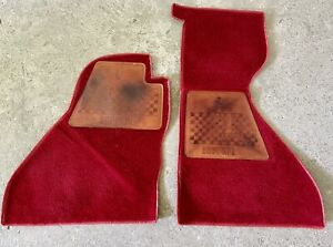 FERRARI MONDIAL FLOOR MATS WITH LEATHER PADS   INTERIOR CARPETS LHD   ACCESSORY