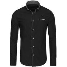 Camisas y polos de hombre multicolores color principal negro 100% algodón
