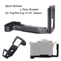 Adjustable Quick Release L Plate Bracket Hand Grip For Fuji X-H1 Camera Arca RRS