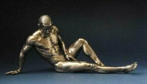 Bronze Erotic Male Nude Statue Figurine Naked Man Pose Sculpture Ornament