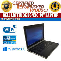 "Dell Latitude E6430 14"" Intel i5 8 GB RAM 320 GB HDD Win 10 WiFi B Grade Laptop"