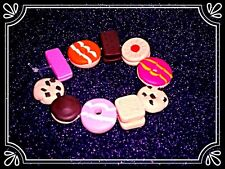 **~ Biscuits bracelet ~ handmade retro fimo bead cute ~**