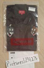 Supreme Tom & Jerry S/S Work Shirt Brown Size Medium Box Logo Classic M