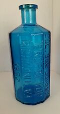 "Lg. Wheaton Glass 8"" Medicine RX Bottle Lancaster Indian Jaundice Bitters 1970's"