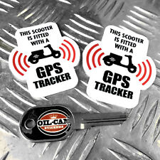 SCOOTER  GPS TRACKER anti theft SECURITY stickers decals x2 lambretta vespa