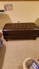Coaster leather tufted Storage Ottoman, tags still attached, brand new