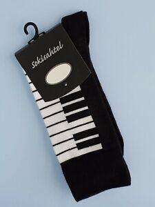 Mens Piano Socks (Pair) Novelty Piano Keyboard Socks - (UK  6.5-10 )