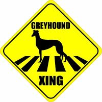 """GREYHOUND XING CROSSING ROAD SIGN 5"""" DOG SILHOUETTE STICKER"""