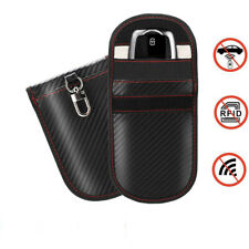 Lock Car Key Keyless Entry Anti-Theft Fob Signal Blocker Pouch Faraday Bag Black