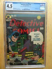 DETECTIVE COMICS 61 CGC 4.5 (MAR 1942) DC. GOLDEN AGE. 1ST BATPLANE COVER