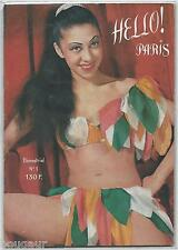 Hello ! Paris N°1 1952 Curiosa Revue Charme Frivole Nu Pin Up Girls Interdit