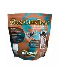 Rescue Fly Ornamentrap Refill Replacement Cartridge Catches Traps Flies Bait Bug