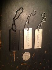 Set Of Three Pieces Reaction Kenneth Cole Metallic Bag Tags