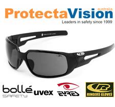 Eyres CHILLI Shiny Black Smoke Safety Glasses Sunglasses
