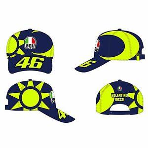 VR46 Valentino Rossi 46 AGV Helmet Cap Sole E Luna Sun And Moon - Blue/Fluo