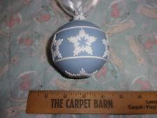 Scarce Wedgwood Jasperware Christmas Round Ball Blue Shining Star Ornament