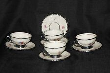 RUDOLF WACHTER (RW) BAVARIA 4 CUPS AND 5 SAUCERS BEAUTIFUL HAND PAINTED 1946