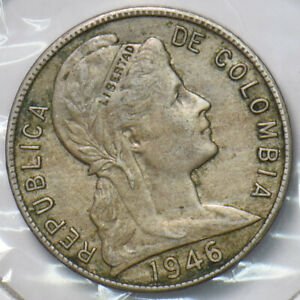Colombia 1946 5 Centavos 150642 combine shipping