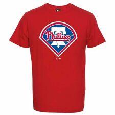 SMALL Mens Majestic PHILADELPHIA PHILLIES T Shirt Baseball MLB Jersey