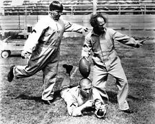 Playing Football THREE 3 STOOGES Glossy 8x10 Photo Moe Curly Larry Print Poster