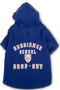 OBEDIENCE SCHOOL DROPOUT Dog Hoodie Sweatshirt - LARGE - Bond & Co - NWT