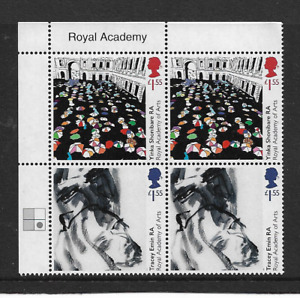 2018 GB.- ROYAL ACADEMY OF ARTS 250TH ANNIVERSARY - TITLED CORNER BLOCK - MNH.