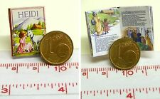 1101# Miniatur Kinderbuch - Heidi - Puppenhaus - Puppenstube - M 1zu12
