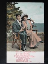 Love & Romance YOU CANT DO WITHOUT A GIRL - Parody c1909 by Valentine