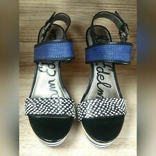 Sam Edelman | Korinne Platform Wedge Sandals 7.5 M Women Blue