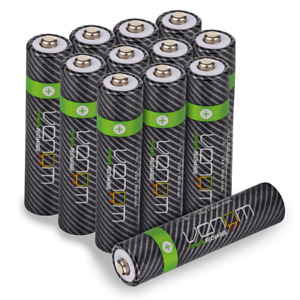 Rechargeable AAA Batteries - 800mAh High Capacity - Venom Power - Pack of 12