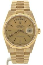 Mens Rolex Day-Date President 18k Yellow Gold Watch Bark Champagne Dial 18078