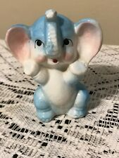 Vintage ~ Porcelain ~ Blue Baby Elephant ~ Animal Figurine ~ Japan