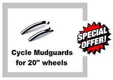 "UNIVERSAL CYCLE MUDGUARDS Mudguard set Front & Rear 20"" wheels & folding bikes"
